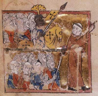 Peter the Hermit, leading the first Crusade