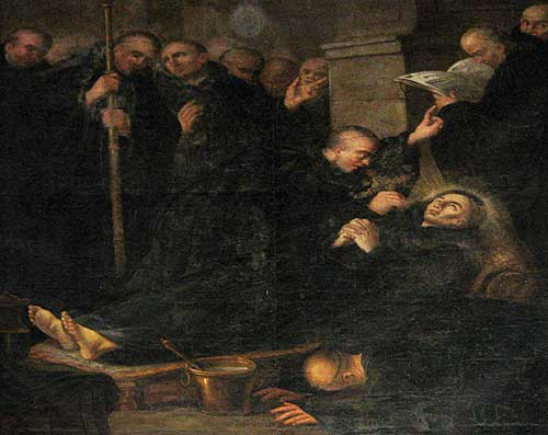 Death of William of Gellone, attributed to Étienne Loys 18th Century, currently in the church of Vendémian