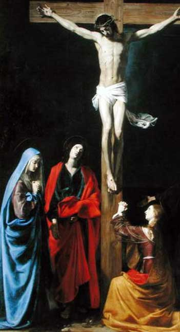 Nicolas Tournier: Christ on the Cross with the Virgin, Mary Magdalene, St. John and St. Francis of Paola