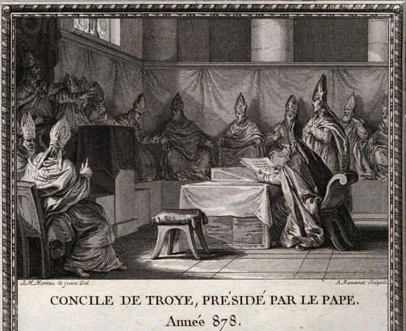 Illustration of the Council of Troyes