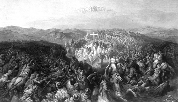 Knights Templar guarding the True Cross at the Siege of Ascalon