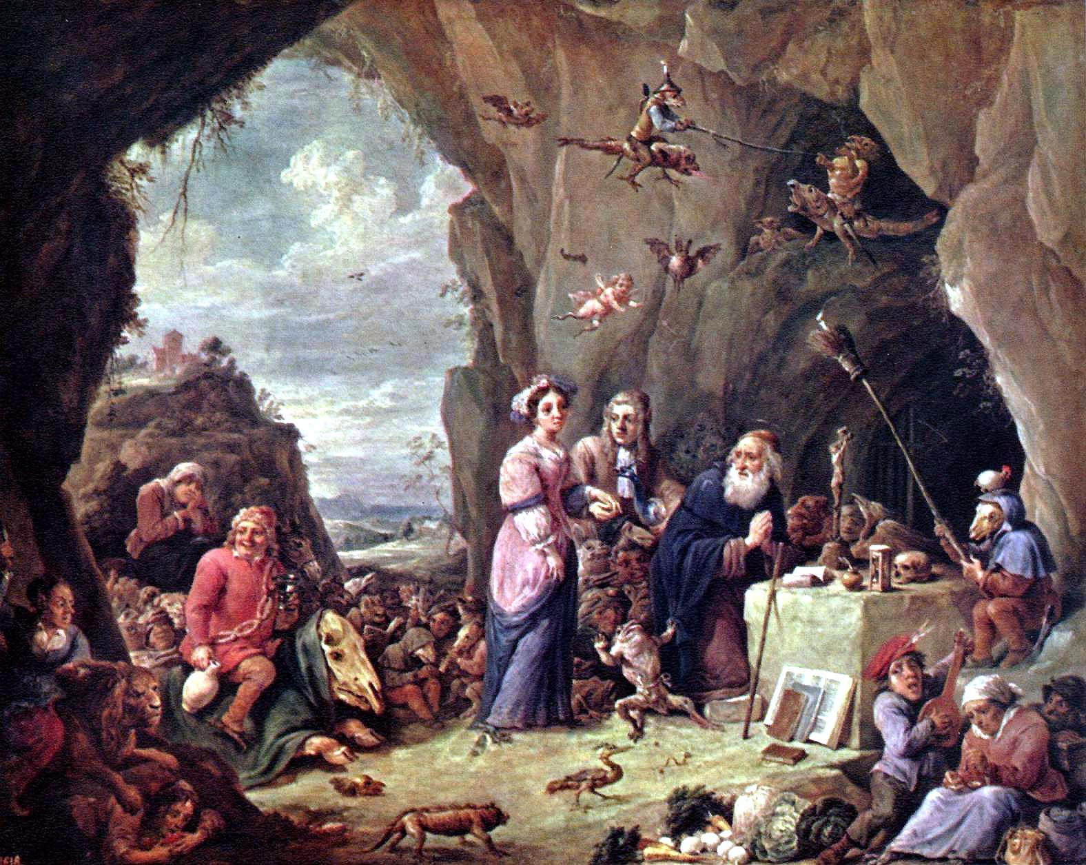 Tentation of St. Anthony by David Teniers the Younger
