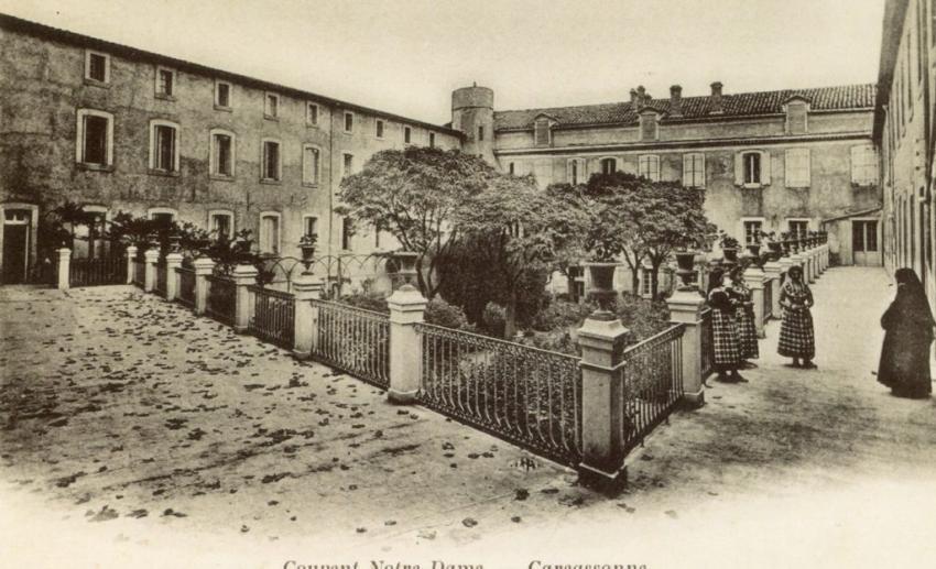 Notre Dame de l'Abbaye, Carcassonne around 1900