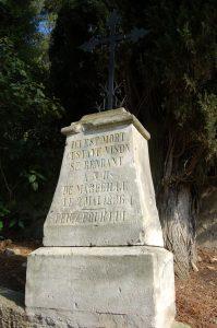 The Gustave Vison memorial at Notre Dame de Marceille